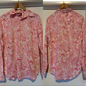 Men's Paisley/ Floral print Button down Shirt